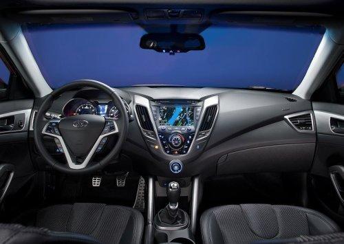 Parte interna Hyundai Veloster 2012