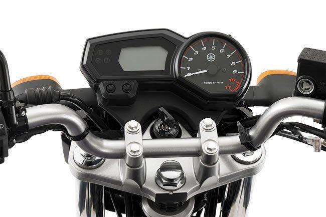 Equipamentos do painel da Yamaha Fazer YS250 2012