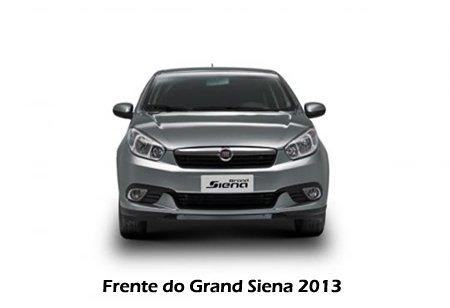 Visão frontal do Grand Siena 2013