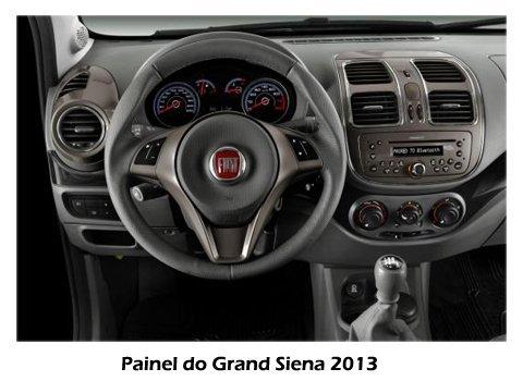 Grand Siena 2013 - Visão do painel