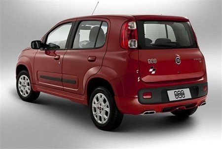 Traseira do novo Fiat Uno 2013
