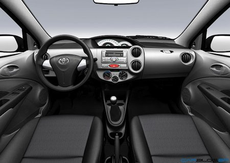 Interior do Toyota Etios